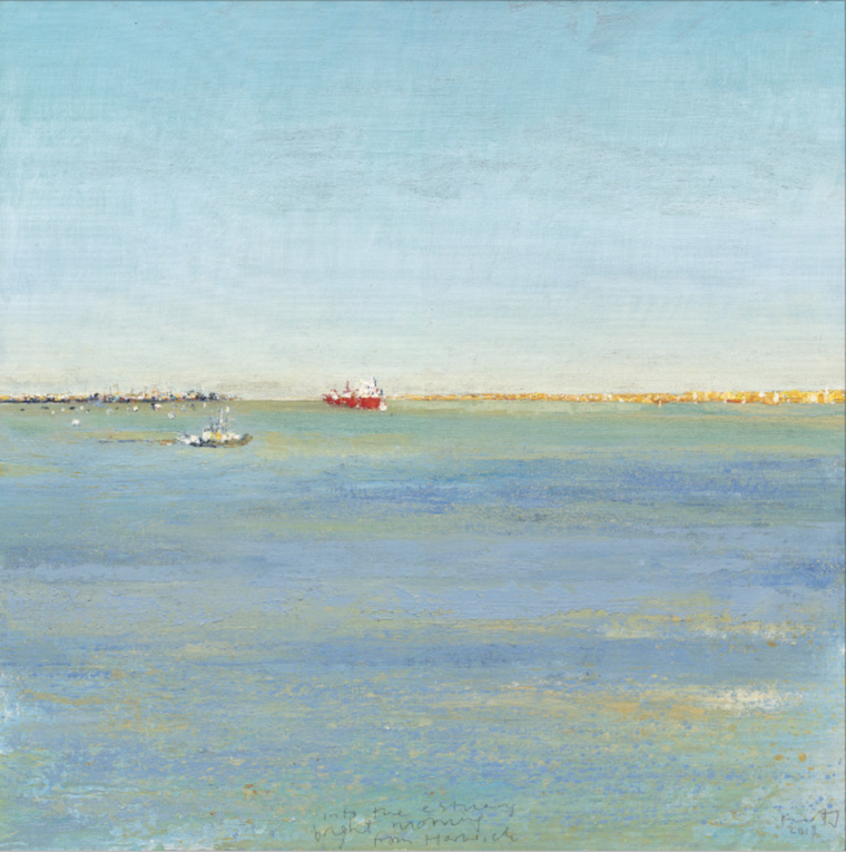 Kurt_Jackson_M58ST58_Into_the_estuary_bright_morning_from_Harwich_2018_61x61cm